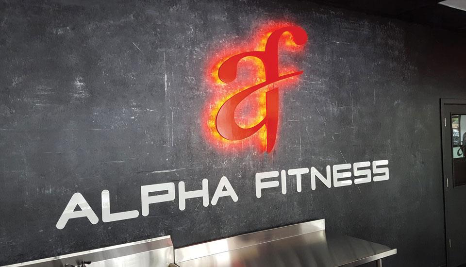 Alpha Fitness - Interior Wall Design - Gravity DesignWorks ...